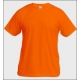 T-shirt Unisexe couleur, impression devant, Safety Orange