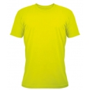 T-shirt Unisexe couleur, impression devant, Safety Yellow