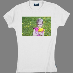 T-shirt coton Ladies - impression devant, exemple 1-Blanc