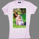 T-shirt coton Ladies - impression devant, exemple 11-Rose