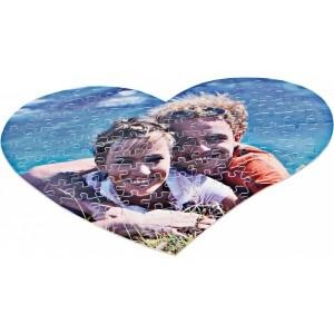 Un puzzle en forme de coeur à réaliser à deux