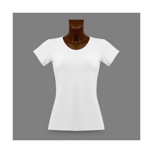 T-shirt moulant pour elle, personnalisable avec votre propre photo